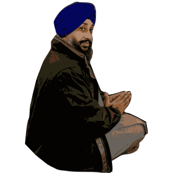 Sikh Man - Isolated