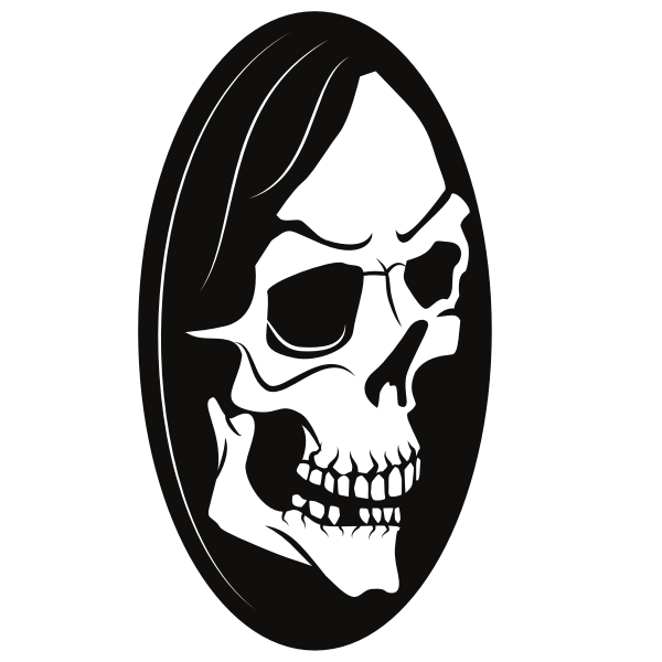 Scary skull silhouette