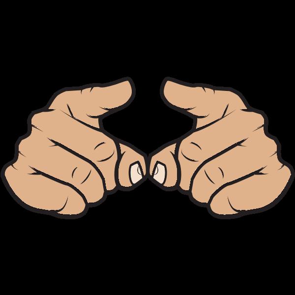 Index fingers hand gesture