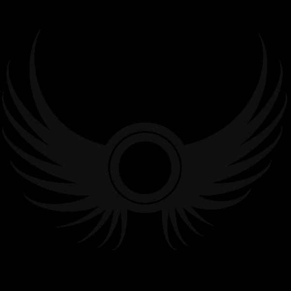 Wings Silhouette Symbol