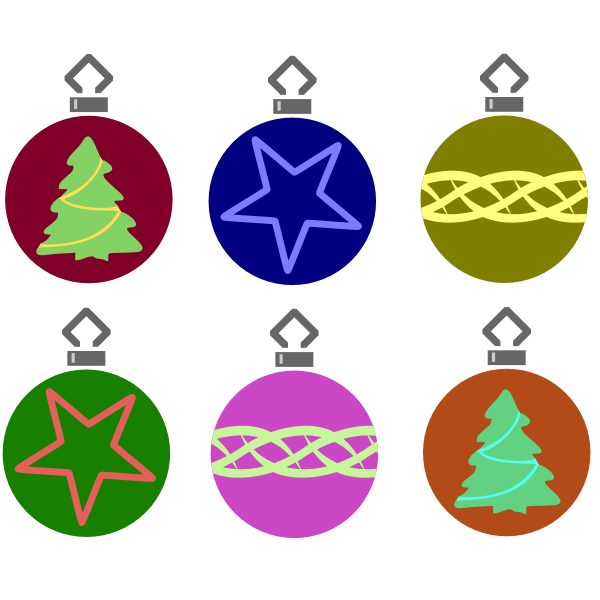 Simple Tree Bauble Set