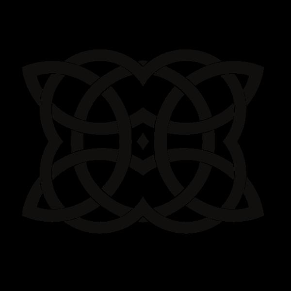 Celtic knot decorative ornament