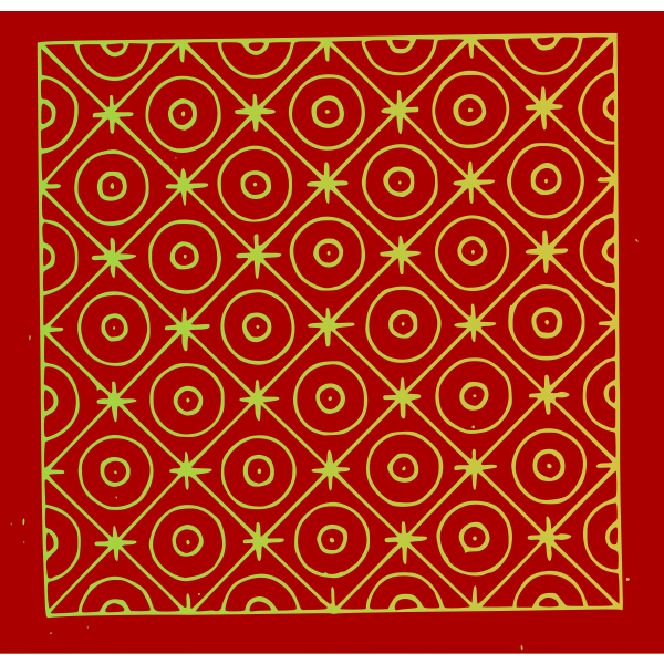 Abstract Red Pattern