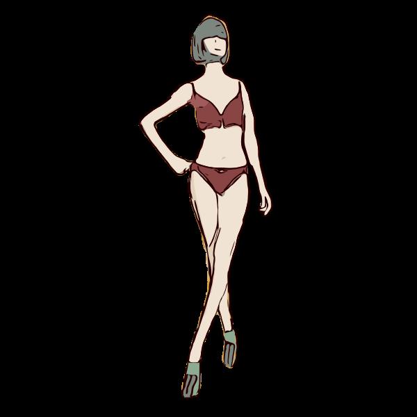 Red Bikini Lady