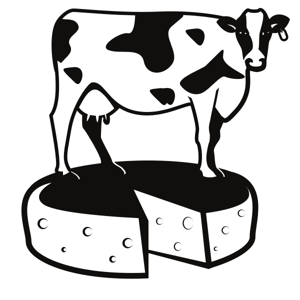 Cow cheese silhouette