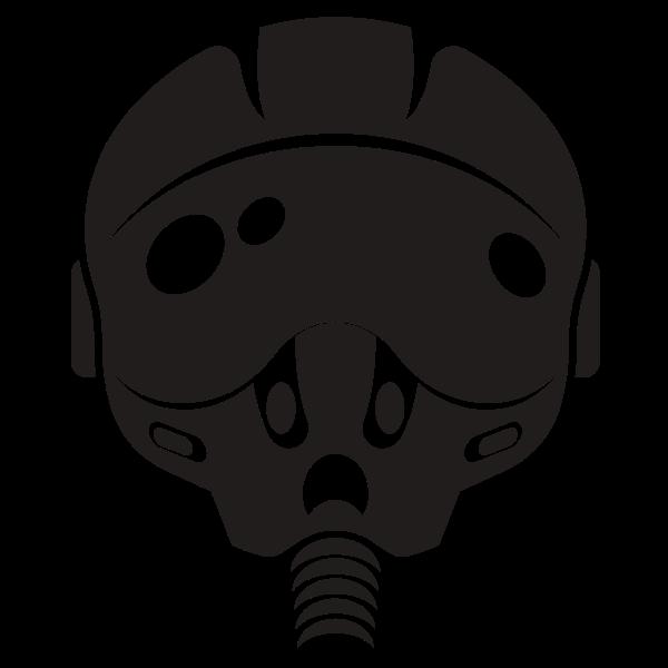 Pilot helmet silhouette