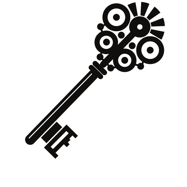 Old key silhouette
