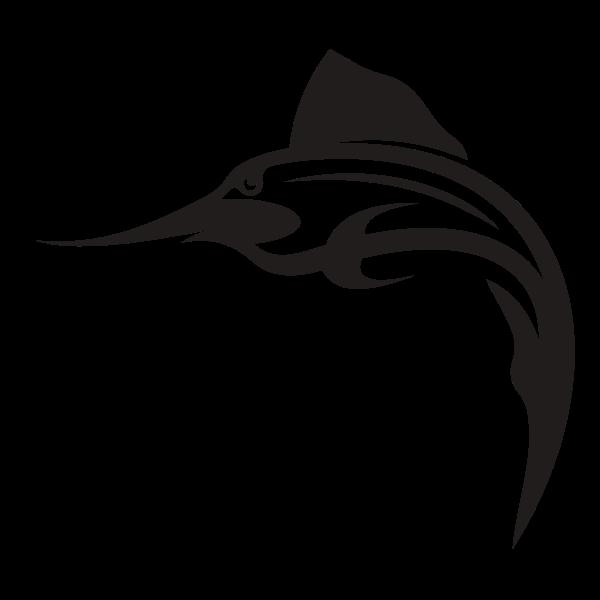 Swordfish monochrome silhouette