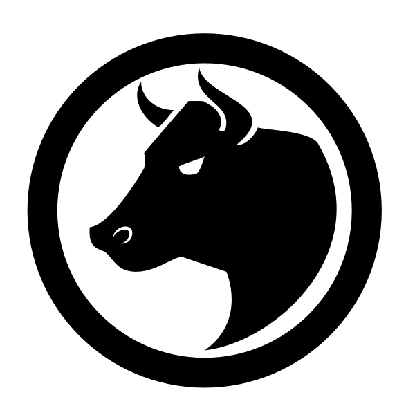 Bull silhouette logo concept