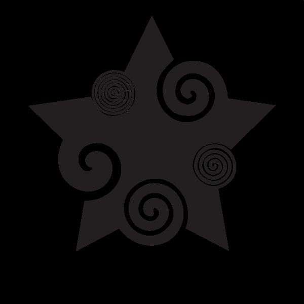 Decorative star with swirls