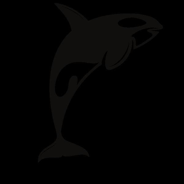 Orca silhouette clip art