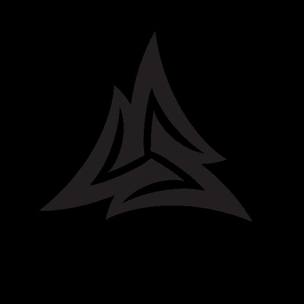 Triangular logotype design concept