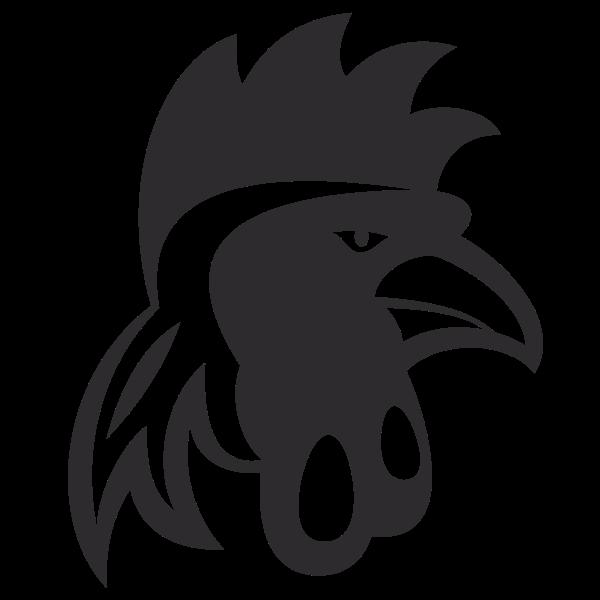 Cockerel head silhouette