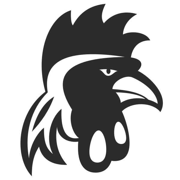 Cockerel head silhouette