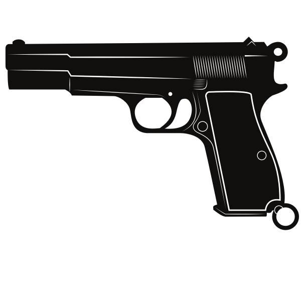 Handgun monochrome silhouette