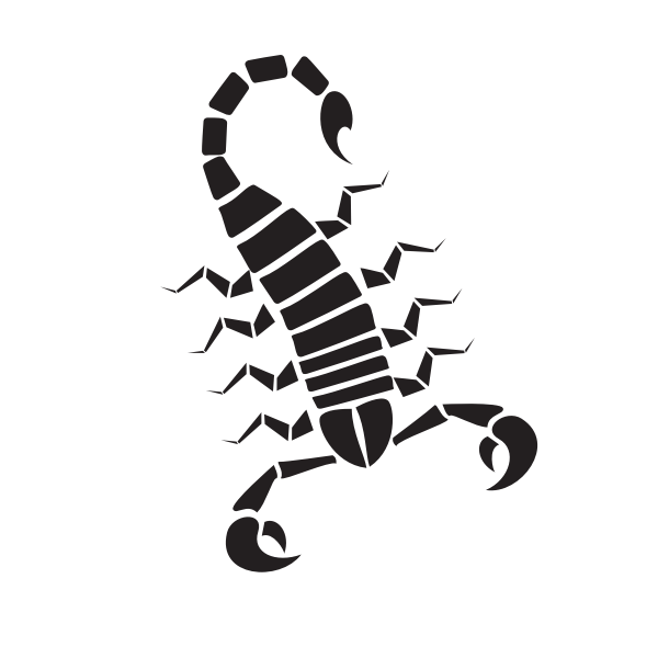 Silhouette of a scorpion