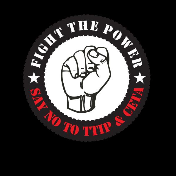 Fight the power sticker