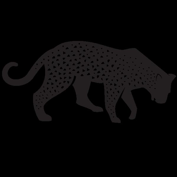 Leopard silhouette clip art