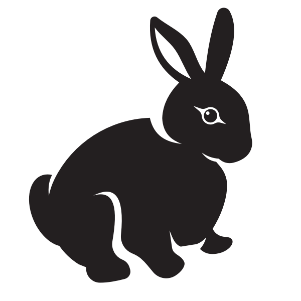 Rabbit monochrome silhouette