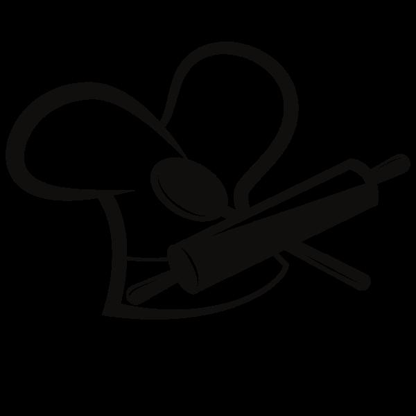 Restaurant monochrome logo concept