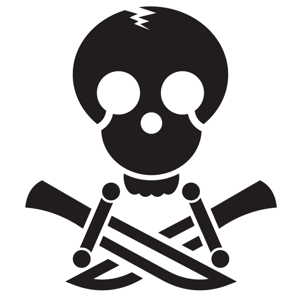 Pirate skull silhouette