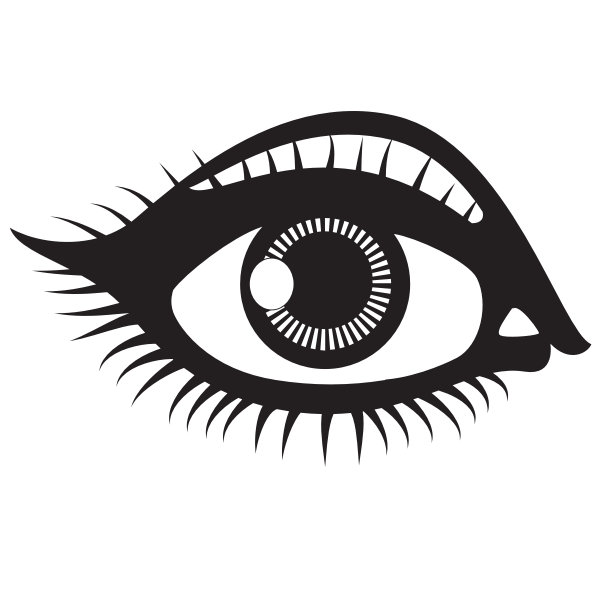Human eye silhouette