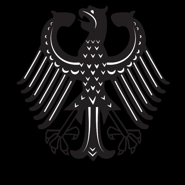 Heraldic eagle symbol