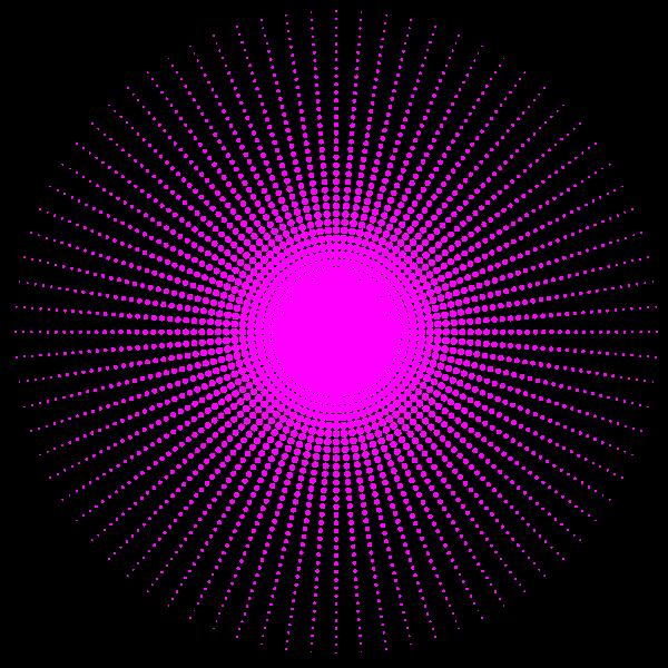 Pink halftone design