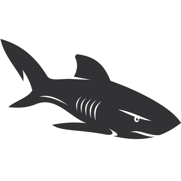Shark outline silhouette