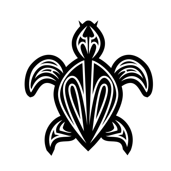 Turtle tribal silhouette