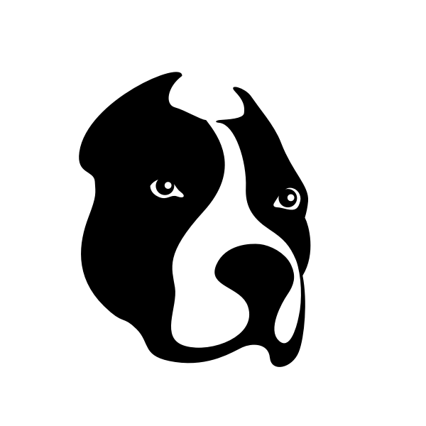 Dog head silhouette-1581326676