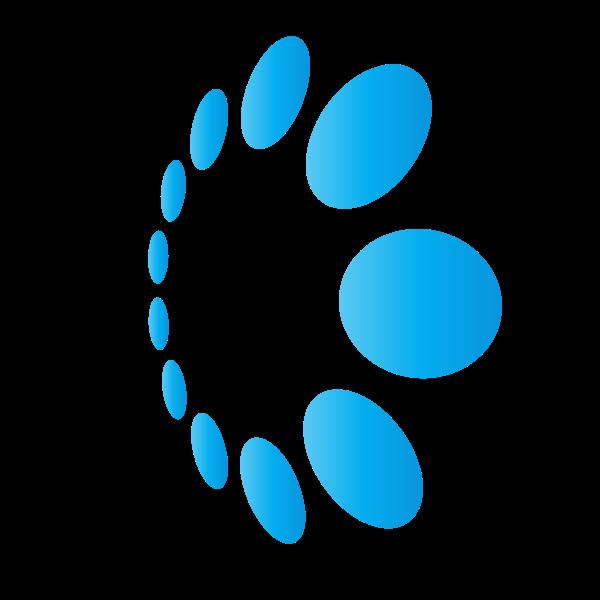 Blue dots logo concept