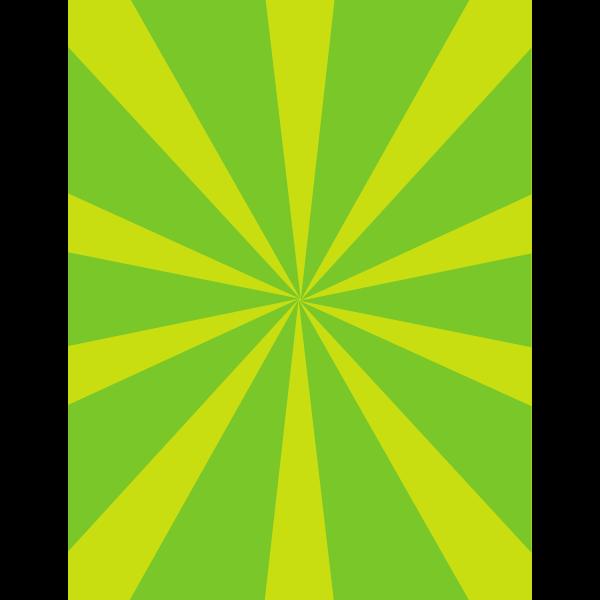 Green and yellow sunbeams