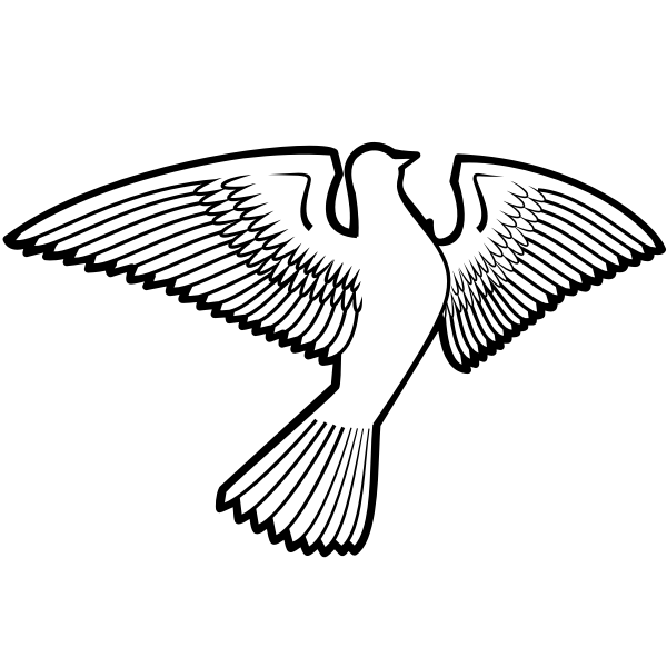 Dove bird silhouette