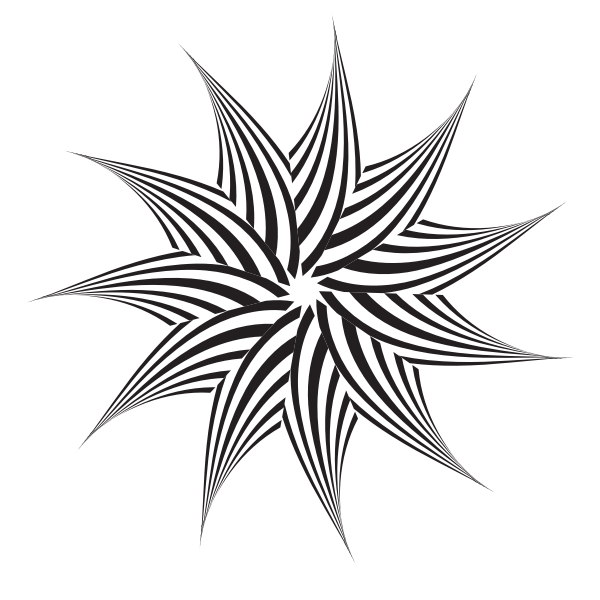 Star logo black and white
