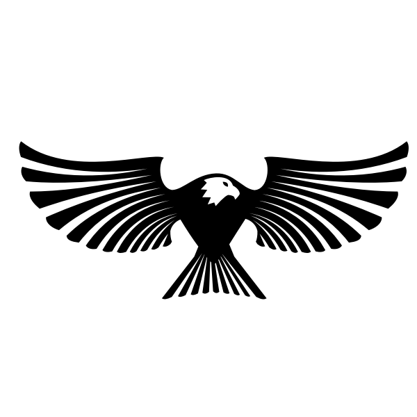 Eagle wings silhouette