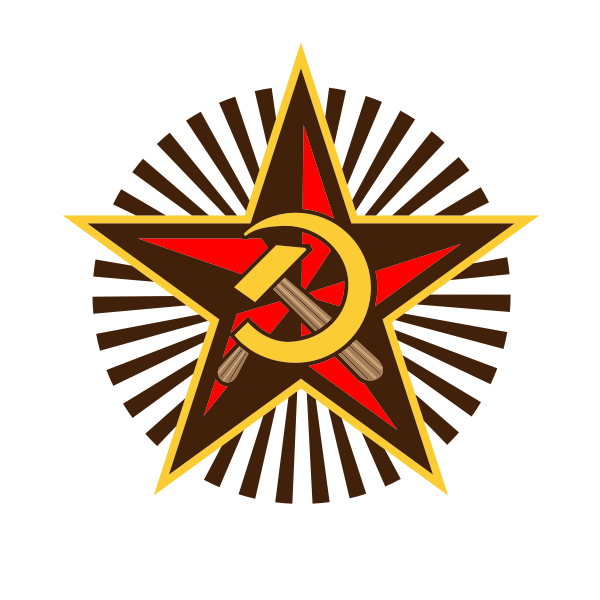 Communist symbol with hammer and sickle