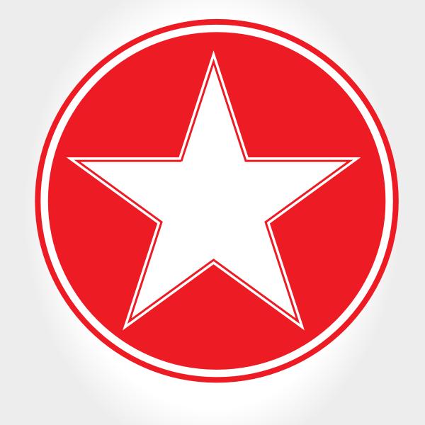 White star red circle