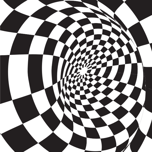 Checkered pattern whirl
