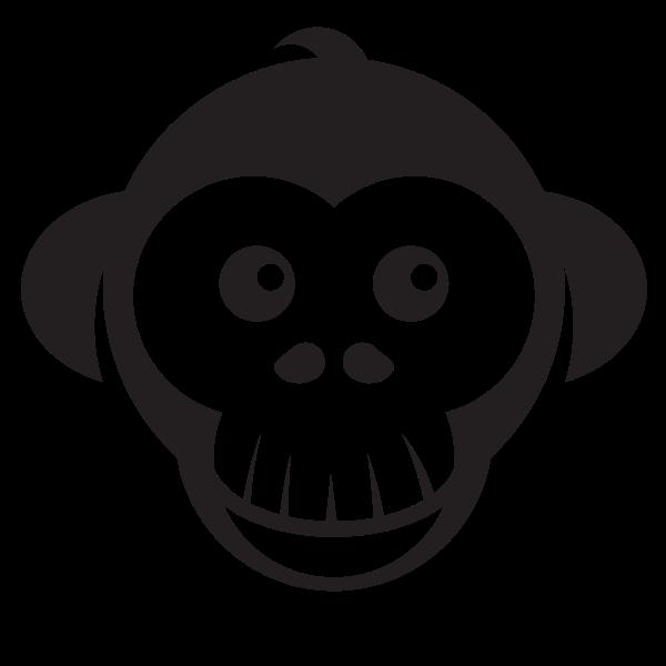 Cute monkey silhouette