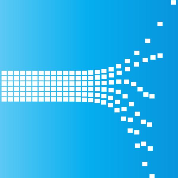 Bursting tiles blue background