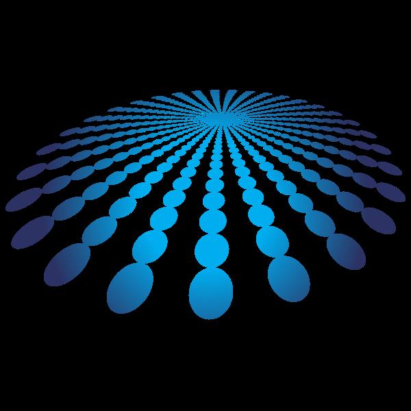 Blue dots burst