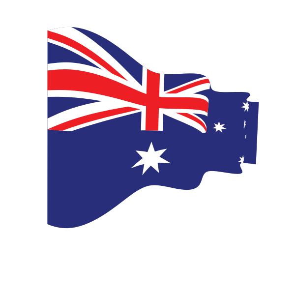 Wavy flag of Australia