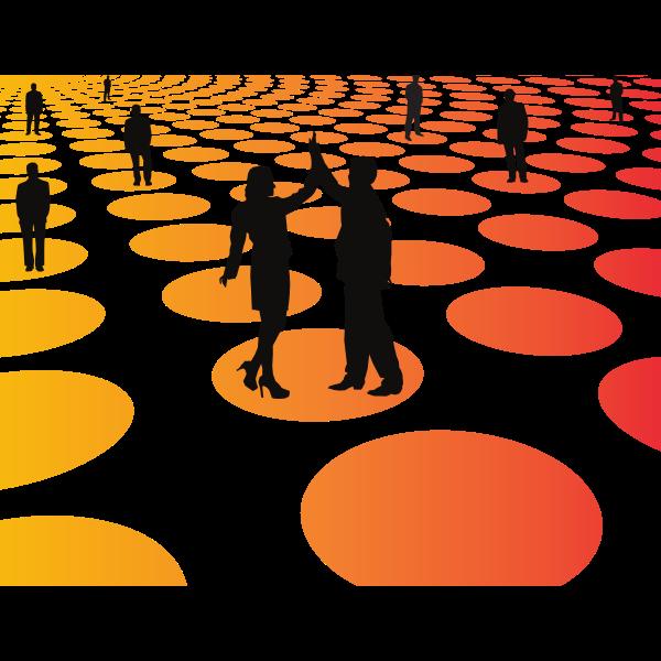 Business success graphic concept