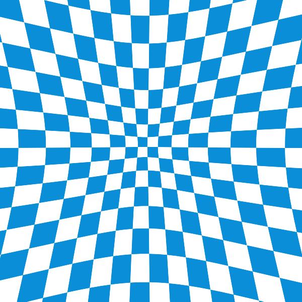 Blue checkered pattern illusion