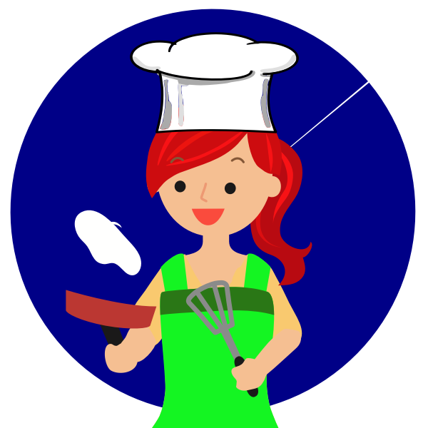 Red head female chef