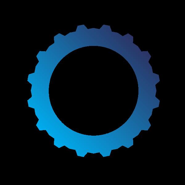 Gear shape blue color