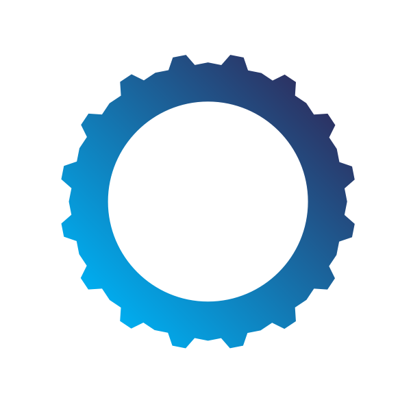 Gear shape blue color