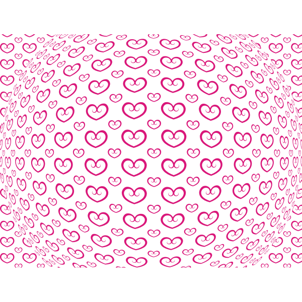 Wallpaper pattern with hearts