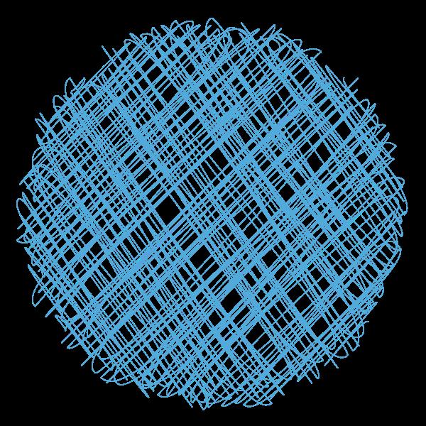 Blue scribble lines